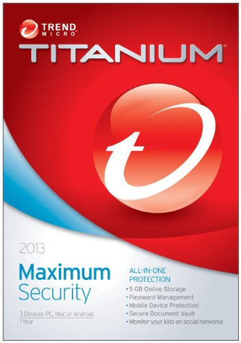 Trend Micro Titanium Maximum Security 2013 3-Users [Old Version]