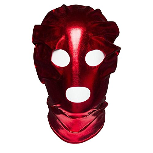 COS2YOU Costume Mask Hood Mouth Open Nostril club Accessories Hood Mash with the Hole for Mouth and Eyes Patent Peather