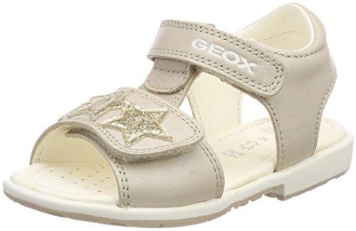 Geox Girls' VERRED 15 Sandal, Beige/Gold, 20 M EU Toddler (4.5 US)