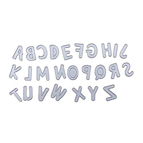 Moca 26 English Letters Metal Cutting Dies Stencil Template for DIY Scrapbook Album Paper Card Craft Decoration,2CM