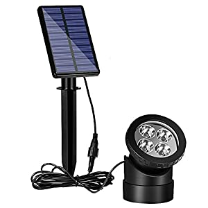 solar powered submersible pond lights with. Black Bedroom Furniture Sets. Home Design Ideas