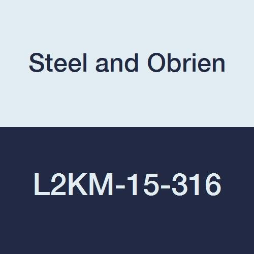 1-1//2 1-1//2 Steel and Obrien L2KM-15-316 Stainless Steel Weld X Clamp Polished 45 degree Elbow