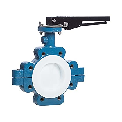 Image of Butterfly Valves Garlock VAL01-10127H GAR-Seal Butterfly Valve, 2', 150# Series 111 Ductile Iron Lug Body, PTFE Disc and Liner with Locking Lever Handle, Blue/White
