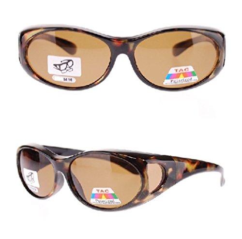 Polarized Fit Over Sunglasses 2866, Size Small, 2 Tortoise (Bargain Sunglasses)