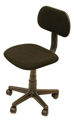 Pearington PEAR-619248 Swivel Armless Roller Office Task Chair, Black