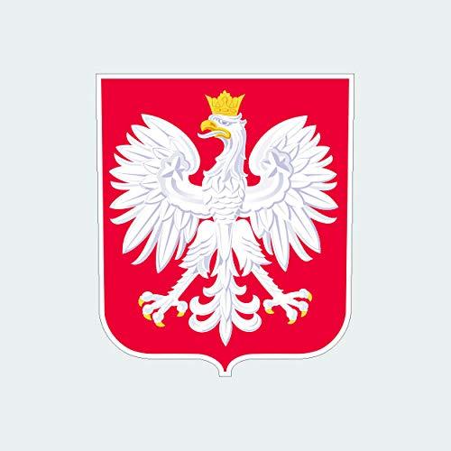 fagraphix Polish Coat of Arms Sticker Self Adhesive Vinyl Decal Poland Flag POL PL