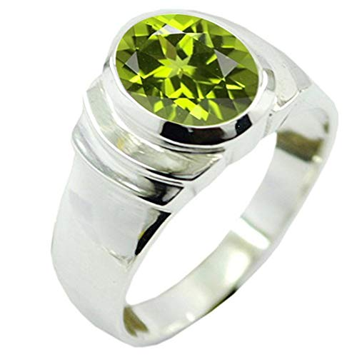 55Carat Choose Your Color Natural Stone Silver Rings Bold Oval Shape Bezel Setting Handcrafted Sizes 5-12