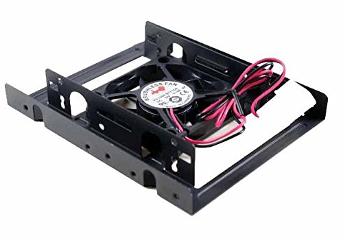 InWin 3.5 to 2.5 HDD Bracketwith Fan 2.5-'' SSD/HDD Mounting Kit for 3.5-'' Drive Bay with60mm Fan