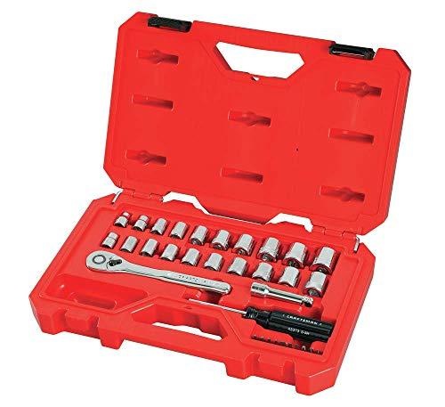 CRAFTSMAN Mechanics Tool Set, SAE / Metric, 3/8-Inch Drive, 32-Piece (CMMT12013) ()