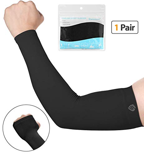 SHINYMOD UV Protection Cooling or Warmer Arm Sleeves for Men Women Kids Sunblock Protective Gloves Running Golf Cycling Driving 1 Pair/ 3 Pairs/ 5 Pairs Long Tattoo Cover Arm Warmer