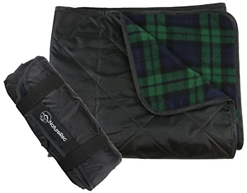 NatureRec Outdoor Waterproof Stadium Blanket | For Picnic, Camping, and Beach - Heavy Duty Fleece - Windproof and Sandproof Backing - Light, Portable, and Machine Washable - Anti Slip Quilting