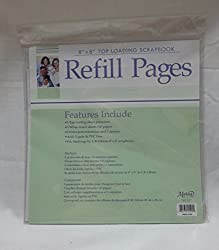 """8"""" X 8"""" Top Loading Scrapbook Refill Pages"""