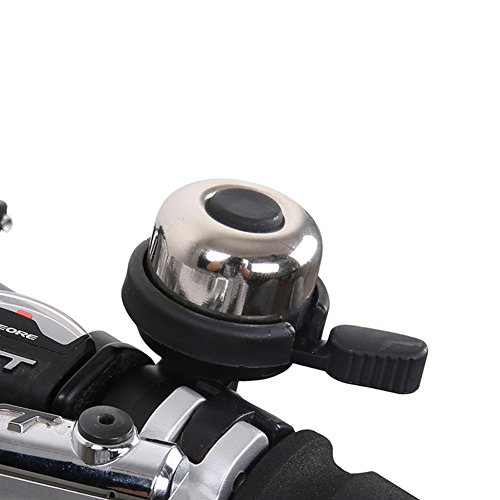 Yamde Aluminum Bicycle Bike Bell Ring Horn Accessories Classic Durable Crisp Loud Anti Rust Fit for Mountain Bike Road Bike