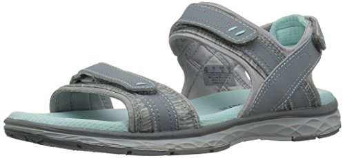 Grey Action Leather (Dr. Scholl's Women's Anna Flat Sandal, Grey Action Leather, 9 M US)