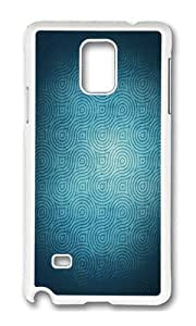 Samsung Note 4 Case,VUTTOO Cover With Photo: Blue Swirls For Samsung Galaxy Note 4 / N9100 / Note4 - PC White Hard Case