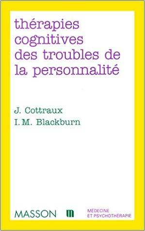 Téléchargement Thérapies cognitives des troubles de la personnalité epub, pdf