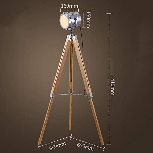 Senza lampadine Edison XDLUK Lampada da Terra Vintage retr/ò Treppiede Teatro Nautico Spotlight Decorazioni Industriali Lampade da Terra in Legno Puntelli per Cinema