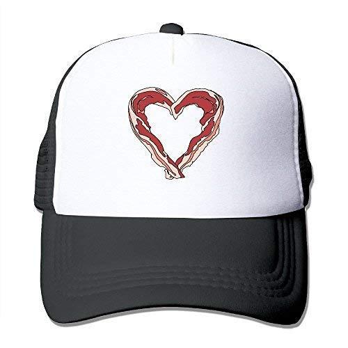 3502235b7ed93 Amazon.com  yisheew Bacon Heart Mesh Trucker Caps Hats Adjustable ...