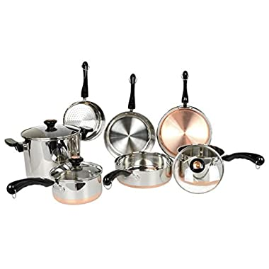 Revere 10 Piece Copper Bottom Cookware Set