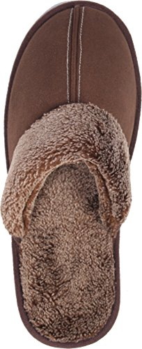 Men's Slipper LUXEHOME Fluff Footwear Slip Indoor Outdoor Coffee On TqFFdwf