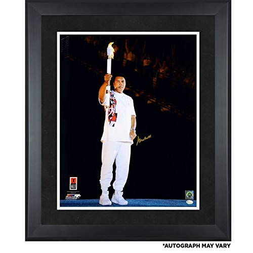 Muhammad Ali Framed Autographed Signed 16x20 1996 Olympic Torch Photograph - Certified Signature