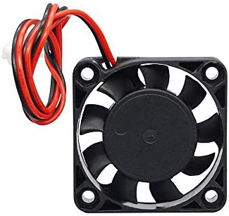 HUANRUOBAIHUO 3Dprinters Parts 4010 fan DC 12V24V Cooling Fan XH254 2 Pin Dupont Wire Moederbord Mute Cooler hotend Radiator 404010mm 3D Printer Parts Size12V 2pcs