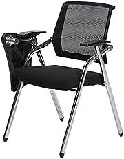 ERTY Kontorsstol, träning kontorsstol med skrivbräda träningsstol hopfällbar stol mobil konferensstol lyssnande stol