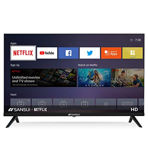SANSUI ES32S1N 32 Inch 720p Smart LED TV – High Resolution Television Built-in HDMI, USB – Support Screen Cast Mirroring…