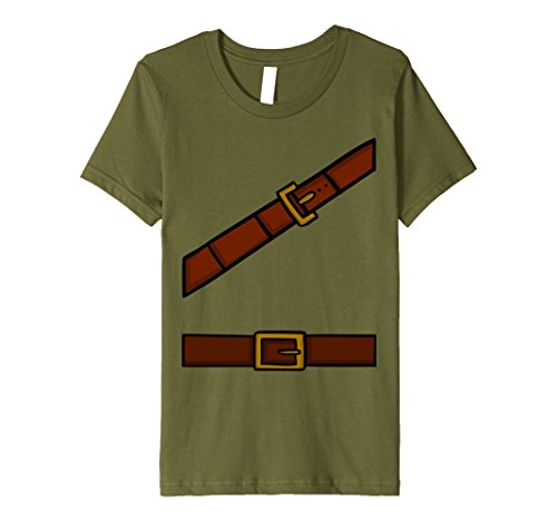 Group Of 12 Costume Ideas (Kids Dwarf Halloween Adventurer Costume Idea T-Shirt for Group 12 Olive)