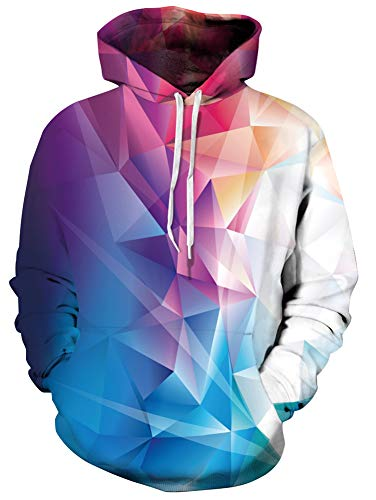 Unisex Realistic Pink Color Block Printed Hip Hop Street Style Hip Hop Sweatshirt Pullover Hoodie for Men Women