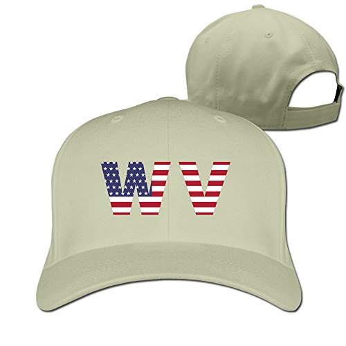 Wv State Of West Virginia Flag Adjustable Fitted Cap Trucker Caps ()