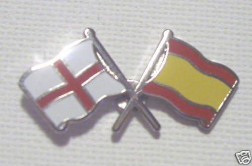 Inglaterra y España insignia de la bandera de la amistad: Amazon.es: Hogar