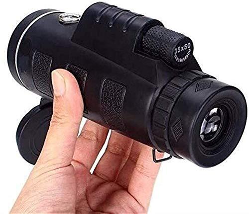 LUCKYY Monocular Starscope Telescope, Universal 40X60 Travel Portable HD Dual Focus Optical Prism Monocular Telescope with Tripod Monoculars