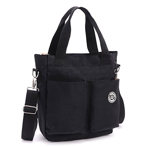 body Black Tiny Handbag Women Tote Bag Style Mommy Lightweight Chou Resistant Bag for Cross Water Nylon 6rUYxq8wrZ