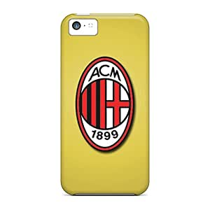 Rugged Skin Cases Covers For Iphone 5c- Eco-friendly Packaging(ac Milan)