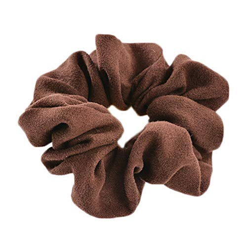 (Women Elastic Hair Rope Ring Tie Scrunchie Ponytail Holder Hair Band Gifts Multi (Color - 19))