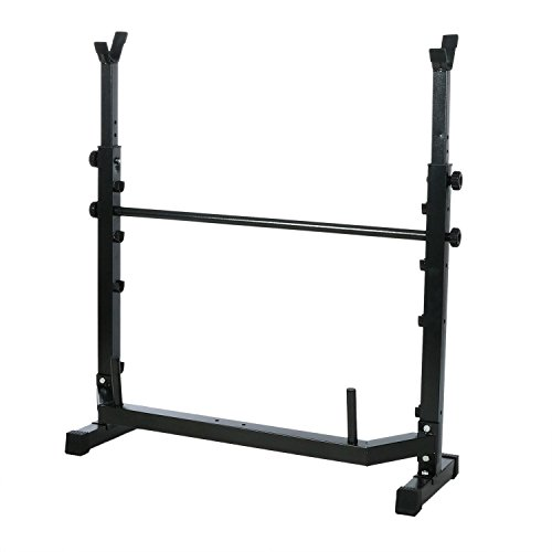 Olympic Wider Weight Bench Set for Home Gym Workout Power Training Exercising, Adjustable Bench Seat with Barbell Rack by Evokem (Image #4)'