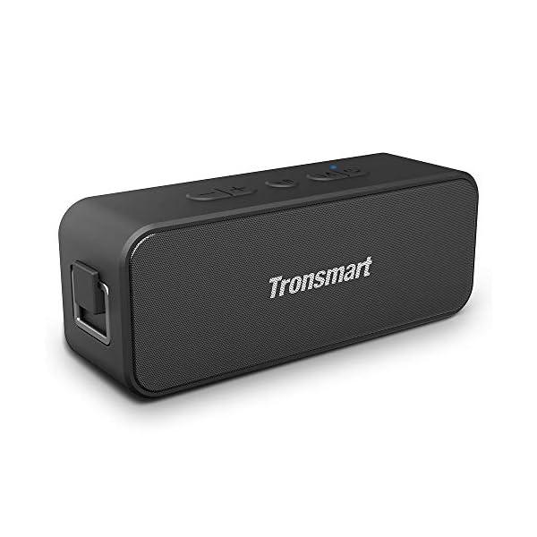 Enceinte Bluetooth Portable, Tronsmart T2 Plus Haut-Parleur sans Fil Extérieur Speaker 20W Bass e Audio Puissant, Speaker Bluetooth 5.0, Autonomie 24H, Étanche IPX7,TWS, Assistant Vocal 1