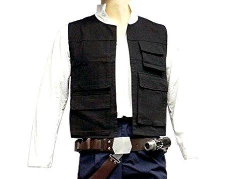 [Star Wars Han Solo Black ANH Vest Only (L)] (Han Solo Adult Costumes)