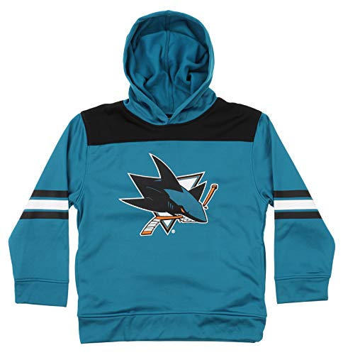 Outerstuff NHL Youth Boys (4-18) Performance Fleece Hoodie, San Jose Sharks X-Large (14-16) ()