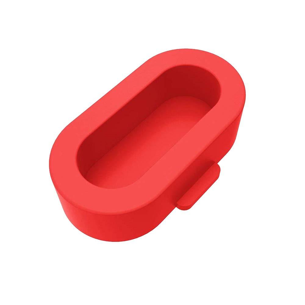 BabiQ Watch Sensor Dust Plug Anti-dust Dustproof Cover Cap Wristband Port Protector Plugs for Garmin Fenix 5/5X/5S (Red)