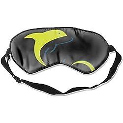 Eye Mask for Sleeping Natural Silk Sleep Mask Blindfold Super-Smooth & Skin-Friendly Eye Shade Dolphin Logo Design Template Eye Cover for Woman Man