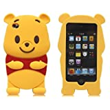 JBG 3D Cartoon Winnie the Pooh Soft Silicone Skin Case Cover for Ipod Touch 4/4g/4th Generation with 3d Winnie the Pooh Stylus Pen