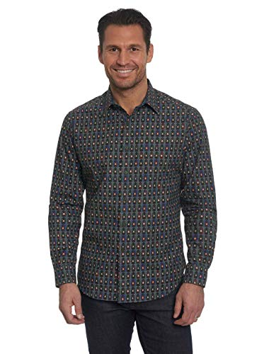 Robert Graham Forest Lanterns Pattern Printed Woven Shirt Classic Fit Multicolor Small