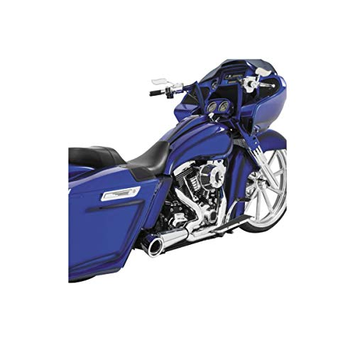Turnout Exhaust Tip - 93-05 HARLEY FXDWG: Freedom Performance 2-Into-1 Turnout Exhaust (Chrome With Chrome Tip)