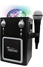 Ising Bluetooth Disco Ball Karaoke Machine with Real Microphone Sounds, Compatible with All Bluetooth-Enabled devices, Black