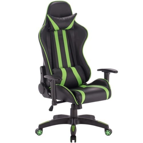 41SXRwwcnQL - PU-Leather-High-Back-Office-Desk-Race-Car-Seat-Racing-Gaming-Chair-360-Swivel-Green-FREE-E-Book