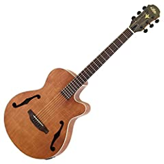 """Electric acoustic guitar which adopted F hole. Wood binding is applied to the body, and matte finish of open pore using grain of grain is adopted. Equipped with 4 band equalizer and preamp """"AEQ - 4"""" with tuner function. Specifications Top: Fl..."""