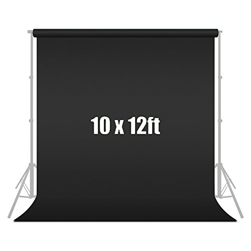 10 ft X 12 ft Black Chromakey Photo Video Photography Studio Fabric Backdrop Background Screen, JSAG120 by Julius Studio