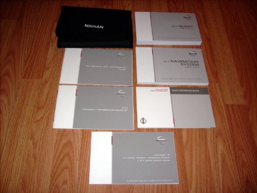 Manual Quest Nissan Owners (2014 Nissan Quest Owners Manual with Nav. Manual)